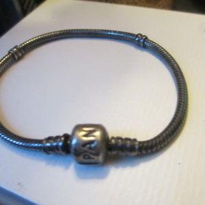 Pandora sterling  Silver OXIDIZED charm bracelet